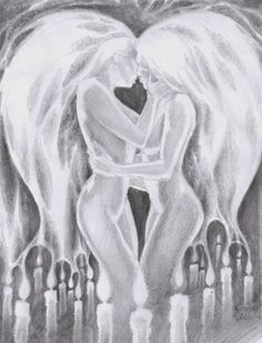 Flames of love, pencil drawing