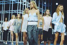 Models on the runway at Alexander Wang S/S14