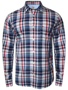 Pepe Jeans Navy & White Casual Shirt