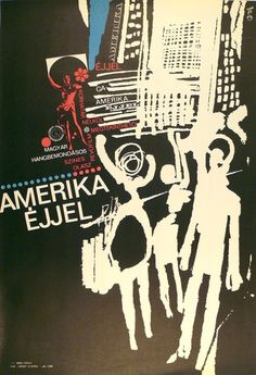 America by Night (Gunda, Antal - - 180 USD at Budapest Poster Gallery Shop Art House Movies, Cut Paper Illustration, Film Posters, Gundam, Budapest, Paper Cutting, Vintage Posters, Night, Gallery