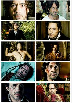 "Robert Downey Jr.: The many faces of Holmes in ""Sherlock Holmes: A Game of Shadows."""