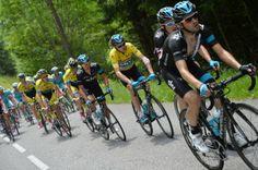Videos  Photos - Critérium du Dauphiné 2014 - CDD 2014 - Etape 7 - Ville-la-Grand / Finhaut-Emosson - 14/06/2014 - Le maillot jaune Christopher FROOME (SKY) © / B.Papon