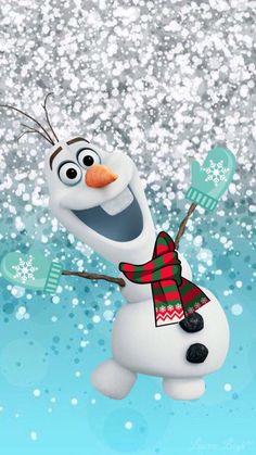 Glitter Phone Wallpaper, Disney Phone Wallpaper, Wallpaper Iphone Cute, Cute Wallpapers, Frozen Wallpaper, Watercolor Christmas Cards, Disney Background, Disney Frozen Olaf, Dyi Crafts