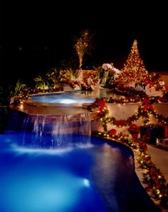 outdoor swimming pool swimming pools home pool - Christmas Pool Decorations