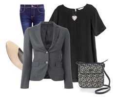 """""""Office Monday"""" by paixfish on Polyvore featuring Boohoo, Tagliatore, Bubbly Bows and Tommy Hilfiger"""