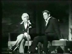 Lorne Greene and Johnny Cash Lorne Greene, Old Music, Johnny Cash, Poetry, Concert, Singers, Musicians, Youtube, Deep