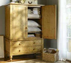 Ashby Armoire ... perfect for extra blankets, pillows, quilts, books, movies