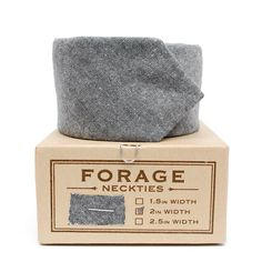 Forage - Grey Chambray Neck Tie  Perfect for the Groom or Groomsmen