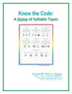 Product DescriptionThis 27 page PDF file highlights numerous skill building activities to continue to support student understanding of the seven syllable types.  Students in kindergarten through higher grades benefit from the numerous activities included in this multisensory and prescriptive approach to the syllable types.