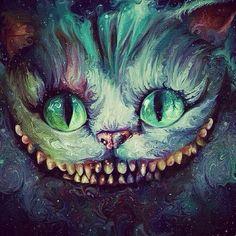 Chesire cat Alice in wonderland fan art Psychedelic Art, Lapin Art, Cheshire Cat Alice In Wonderland, Alice In Wonderland Fanart, Chesire Cat, Cheshire Cat Art, Alice Madness, Were All Mad Here, Adventures In Wonderland