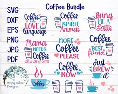 Super cute FREE Coffee SVG Bundle Graphic by WispyWillowDesigns - Creative Fabrica Free Svg Cut Files, Svg Files For Cricut, Cricut Fonts, Need Coffee, Coffee Latte, Coffee Png, Boat Names, Illustration Vector, Circuit Projects