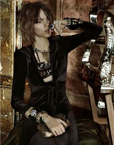 Freja Beha Erichsen by Javier Vallhonrat///Vogue UK September 2009