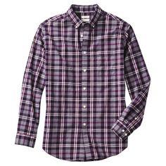 Merona® Men's Long Sleeve Everyday Button Down - Purple Plaid Work Shirts, Dapper, Button Downs, Work Wear, Men Casual, Plaid, Mens Fashion, Wedding Fun, Purple