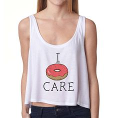 I Donut Care Crop Top by FaultyRobot on Etsy