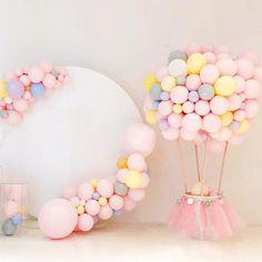 Birthday Balloon Decorations, Diy Wedding Decorations, Baby Shower Decorations, Balloon Birthday Parties, Helium Balloons, Baby Shower Balloons, Latex Balloons, Pink Birthday, Girl First Birthday