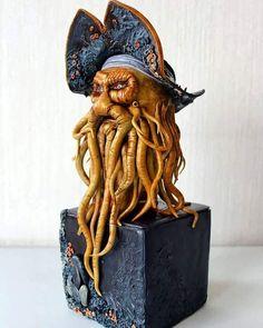 Davy Jones - cake by Edgardo Mardones Duran Davy Jones, Horror Cake, Extreme Cakes, Cupcake Pictures, Nautical Cake, Batman Cakes, Edible Creations, Sculpted Cakes, Superhero Cake