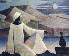 """مصري نوبي on Twitter: """"#النوبة لوحات فنية ل حسين بيكار #مصر النوبي متأمل في ما…"""