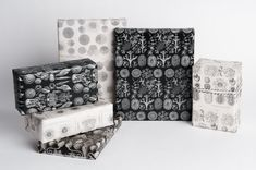 Sea Life Study Illustration Wrapping Paper / Monochromatic