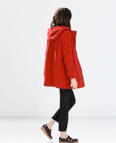 WOOL DUFFLE COAT - Outerwear - WOMAN   ZARA Serbia