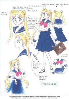 Tsukino Usagi (Serena) - Pretty Guardian Sailor Moon; Official Artwork. By Naoko Takeuchi