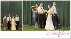 I like these pics - most small-bridal-party pics I've seen look too serious or 'cold'.