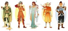 Updated: Avatar Art Nouveau Costume Designs by Hannah-Alexander