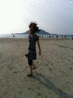 바다에서 광적인 컨셉사진 #카톡 곽윤선님