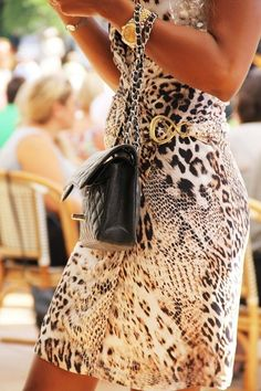 black & white animal print.
