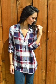 Leading Lines Plaid Blouse from Shop Southern Roots TX