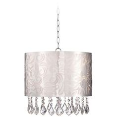 Dvp8513ch cry sparxx 16 in pendant 440 chandeliers lamps plug in chandelier for the bathroom eleganza 15 wide chrome and crystal pendant light aloadofball Images