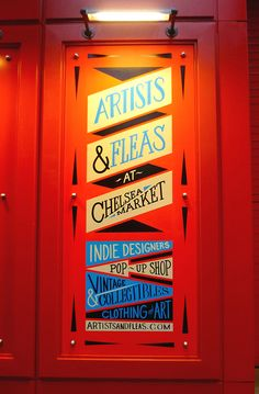 Artists & Fleas at Chelsea Market NYC on Behance