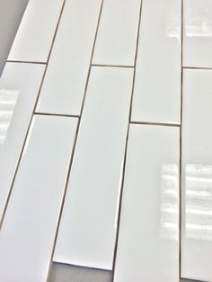 """Discount Glass Tile Store - Clearance Metro Subway Tile - Bright White 2"""" x 8"""" Ceramic Wall Tile $2.65 Per Square Foot (9 Pieces Per Square Foot), $2.65 (http://www.discountglasstilestore.com/clearance-metro-subway-tile-bright-white-2-x-8-ceramic-wall-tile-2-65-per-square-foot-9-pieces-per-square-foot/)"""