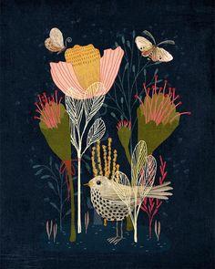 Art Et Illustration, Floral Illustrations, Sketchbook Inspiration, Painting Inspiration, Art Carte, Scandinavian Folk Art, Ouvrages D'art, Art Courses, Art Design