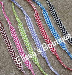 White bordered braid pattern bracelet