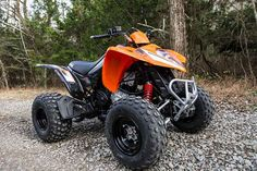 New 2017 Kymco Mongoose 270 ATVs For Sale in California. A mid-size sport quad in striking orange/black or red/black livery, the Mongoose 270 features a liquid-cooled, carbureted, 4-stroke SOHC 270cc engine that provides enough power to loft it over logs, boulders or most other obstructions. Nevertheless it still is nimble enough to negotiate the tightest turns. Regulated by an easy-to-use CVT automatic transmission with the basic forward, reverse and neutral gears, the chain-driven Mongoose…
