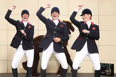 So very AWESOME!!  Gangnam girls: British eventing team Nicola Wilson, Tina Cook and Zara Phillips performed PSY's now iconic dance for Children In Need