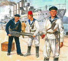 Pinturas de la Gran Guerra 1914-1918 — 1914 Ost Afrika Schutztruppe - Marek Szyzsko ...