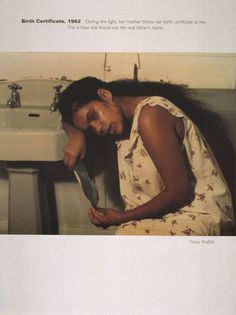 Tracey Moffatt. Birth Certificate, 1962. From Scarred for Life. 1994