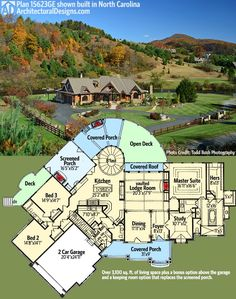 Architectural Designs Craftsman House Plan 15623GE client-built in North Carolina. Imagine enjoying the river in back from your curved back deck and porch. Ready when you are. Where do YOU want to build?