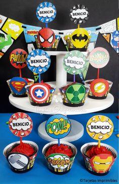 Superhero Birthday Party, Birthday Parties, Candy Boxes, Candy Apples, Party Time, Spiderman, Batman, Nuevas Ideas, Ideas Originales