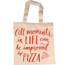 This cute tote. | 17 Essential Products Every Pizza Lover Needs In Their Life