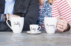 Mummy, Daddy and baby cup pregnancy announcement