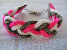 CUSTOM Braided Paracord Charm Bracelet by BeeWildandFree on Etsy