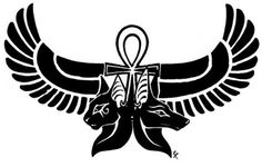 Anubis, god of dead is also featured very commonly in Egyptian tattoos. It has a catlike face and is black in colour.