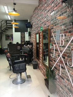 Barber Shop Inspiration- Decor Ideas and Design Buyrite Beauty Salon Equipment Barber Shop Interior, Barber Shop Decor, Shop Interior Design, Barber Shop Equipment, Salon Equipment, Barbershop Design, Barbershop Ideas, Salon Dryers, Hair Salon Names