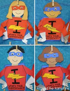Superhero goal setting writing craft. My students set goals during back to school then at the end of the year the kids revisit their goals and celebrate their accomplishments. These are such a fun activity for my superhero theme classroom!