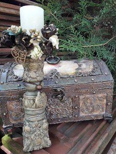 Dekupaž: Marija Teslic Candlesticks, Decoupage, Decorative Boxes, Artist, Books, Home Decor, Boxes, Candle Holders, Candle Sticks