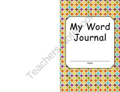 Word Journal from It's Elementary! on TeachersNotebook.com (14 pages)