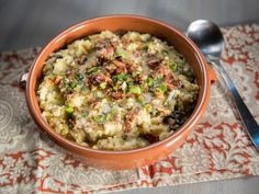 Get Yukon Gold Colcannon with Sauteed Kale and Cabbage and Bacon Butter Recipe from Food Network