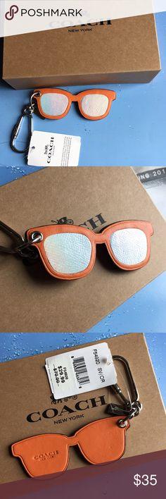 944ce62a31c Coach Sunglasses Bag Charm Keychain FOB New Nice Coach Pop Art Orange  Sunglasses Bag Charm